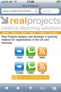 Real Projects Mobile Site